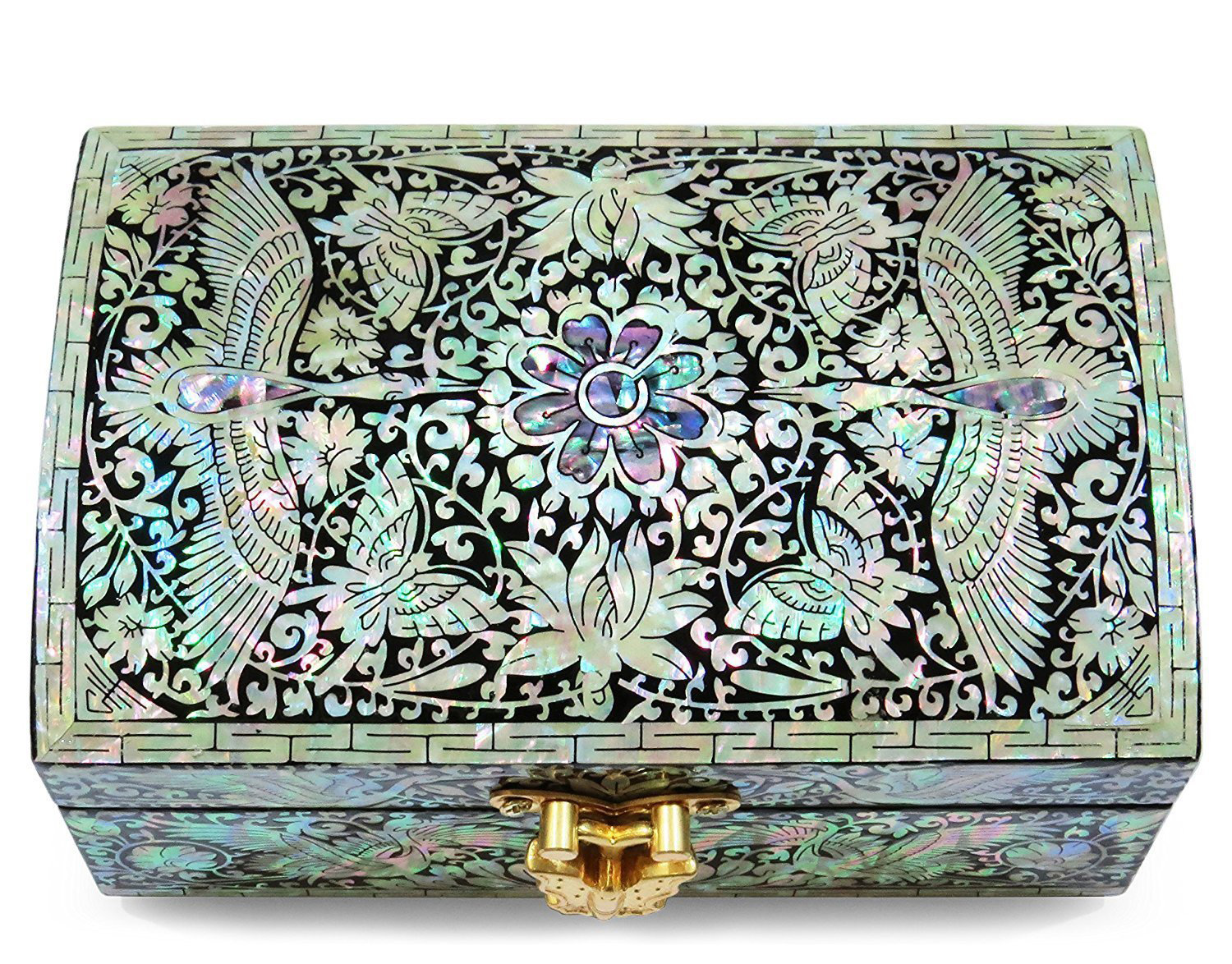 Creative Floral Pattern Antique Jewelry Chest