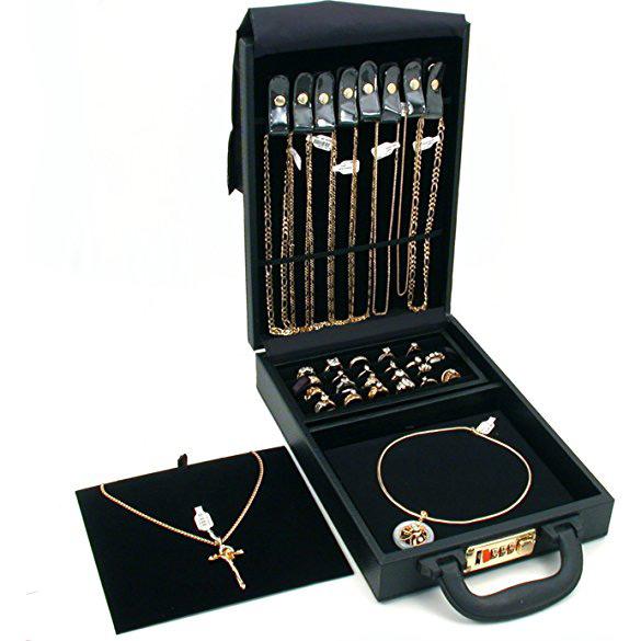 Beautiful Compact Locking Jewelry Travel Box