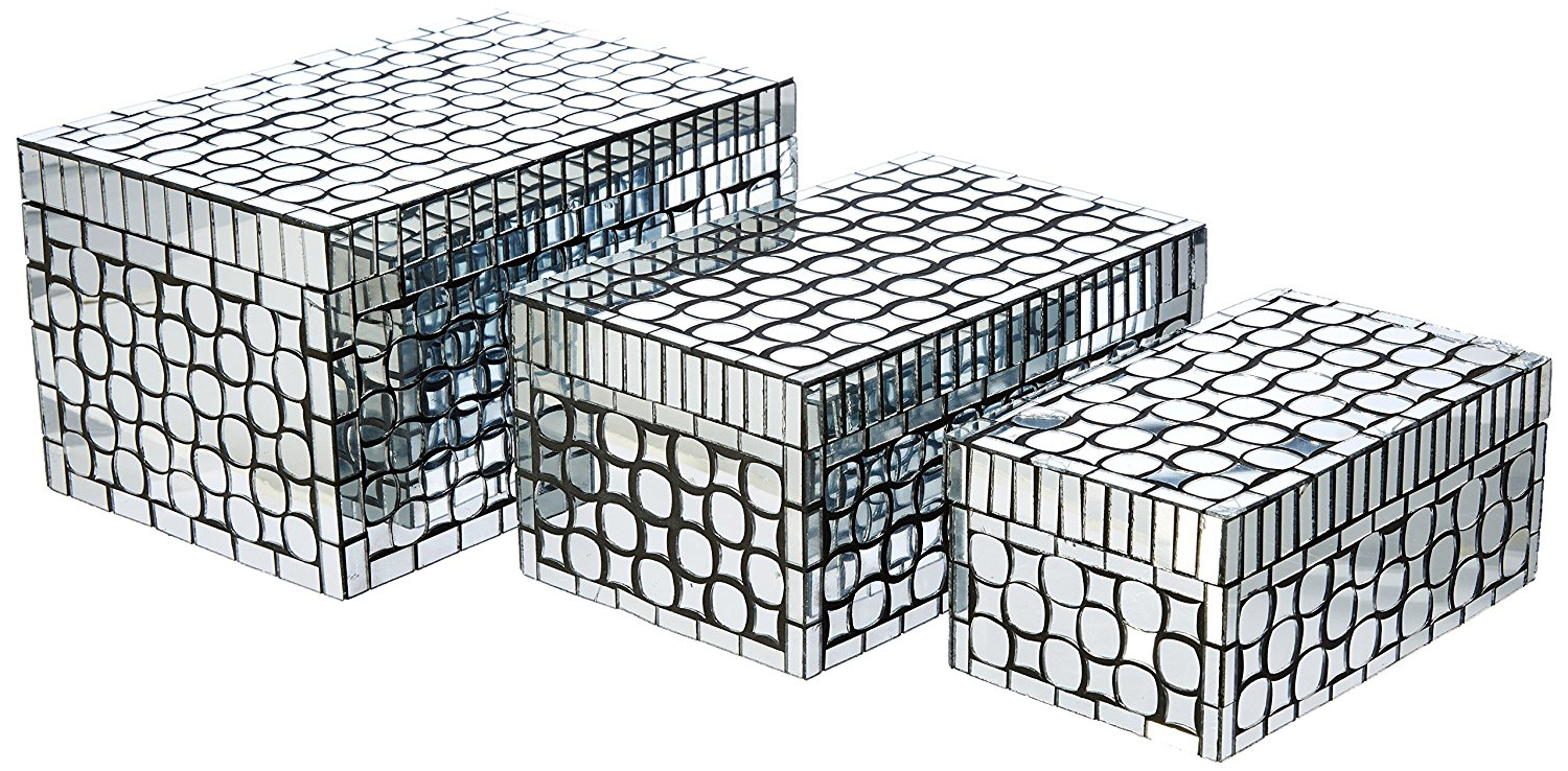 Creative Mirrored Patterned Jewelry Box