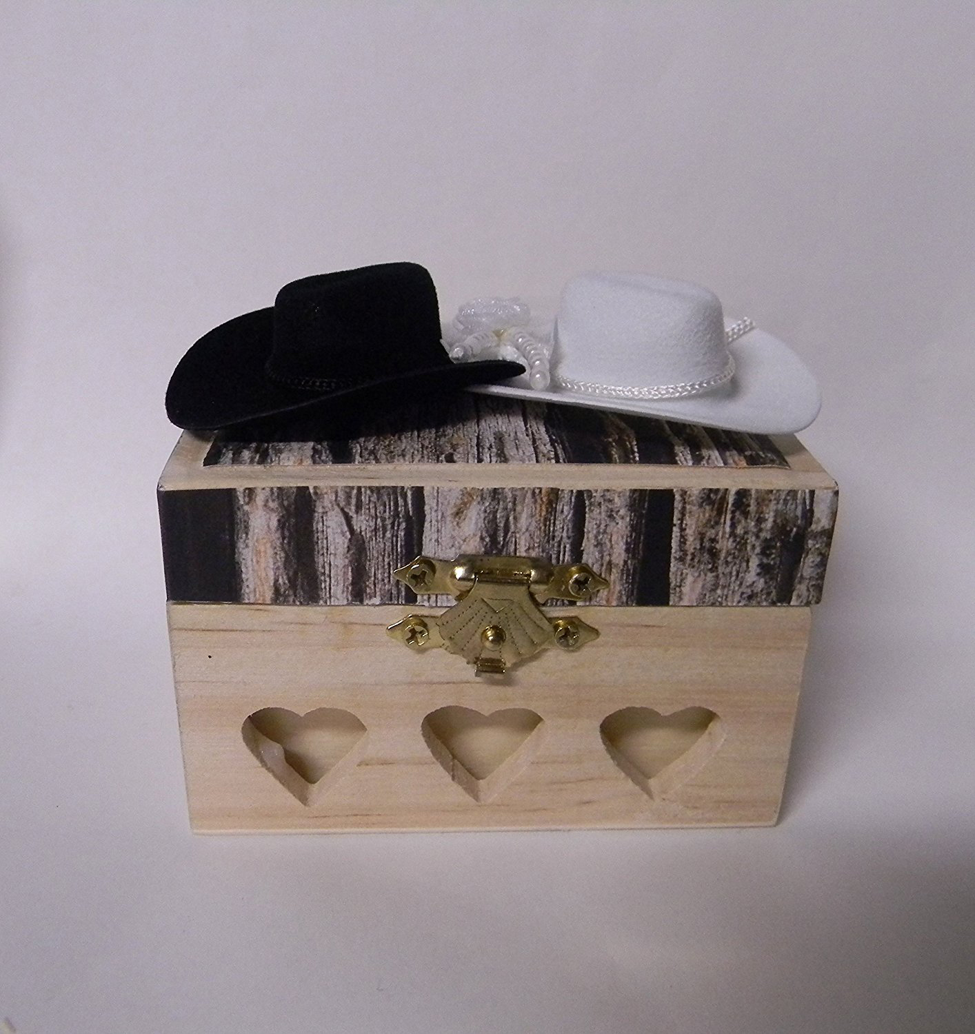 Cute Creative Wooden Wedding Ring Box