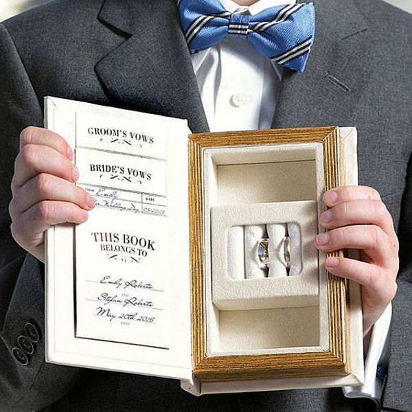 Creative Vows Book Shaped Wedding Ring Box