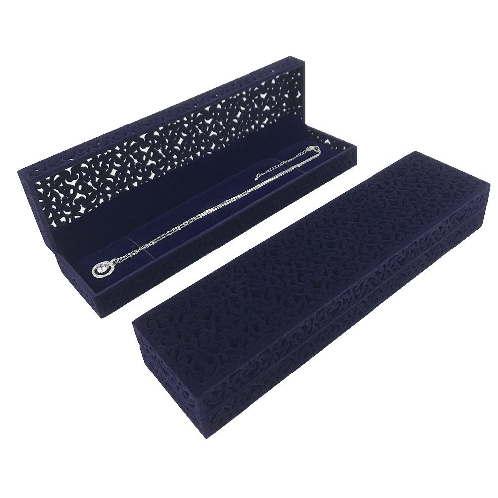 Beautiful Dark Blue Patterned Necklace Gift Boxes