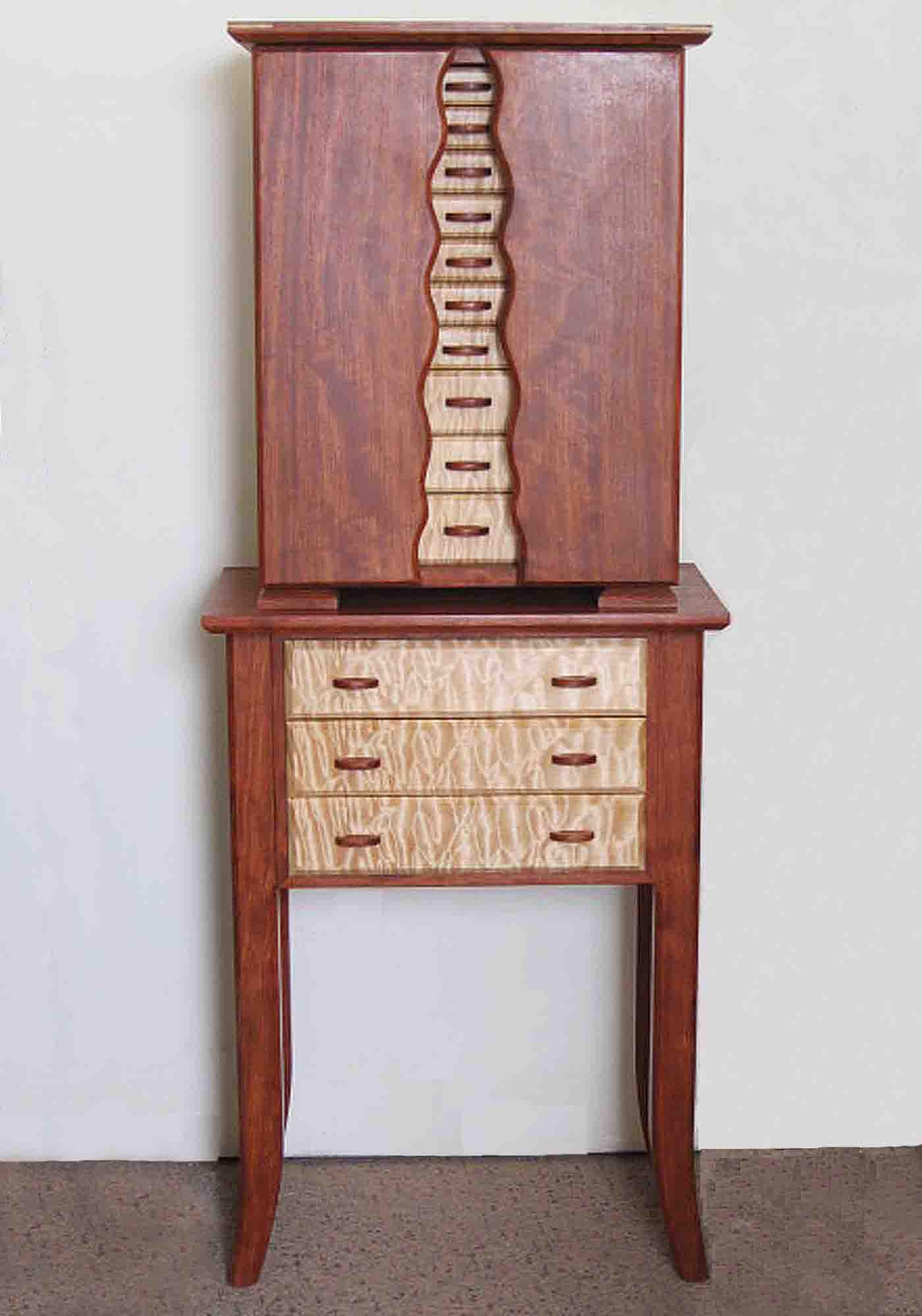 Creative Wooden Design Floor Standing Jewelry Armoire