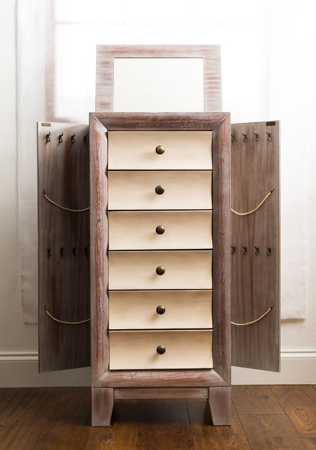 Cedar Jewelry Armoire ~ Beautiful modern jewelry armoires zen merchandiser