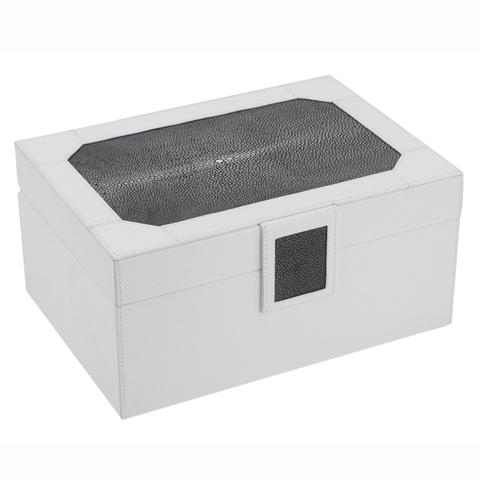 Minimalist White Black Top Pattern Jewelry Box