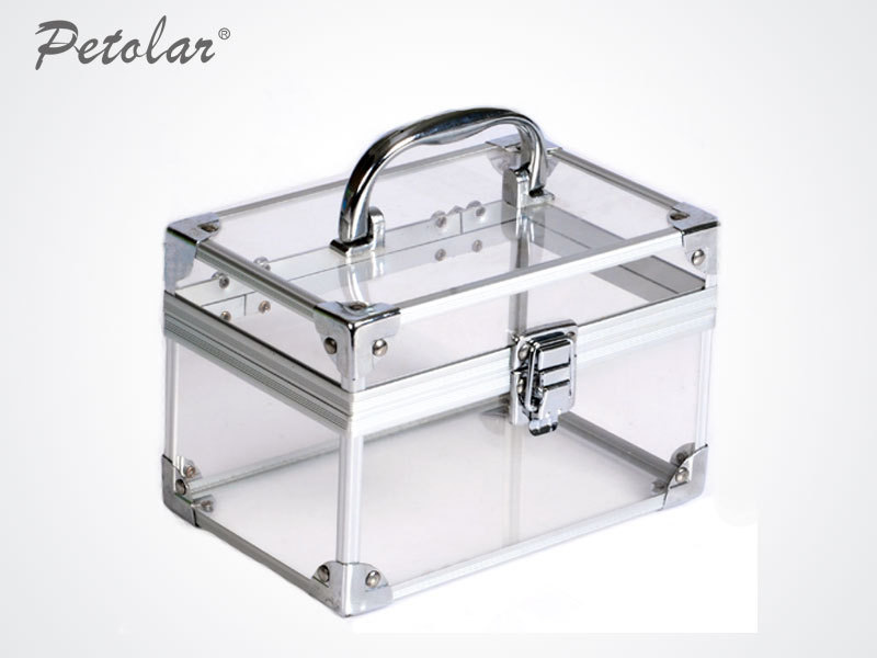 Elegant Silver Frame Acrylic Jewelry Box