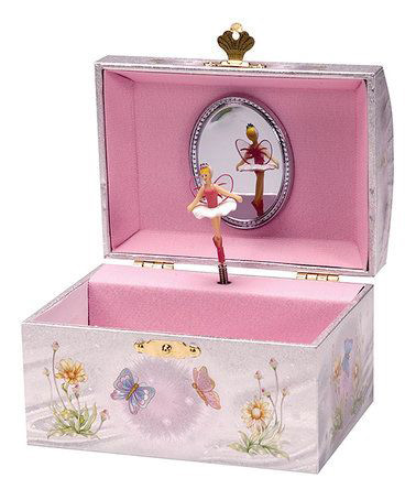 Cute Square Pink Mirrored Jewelry Box