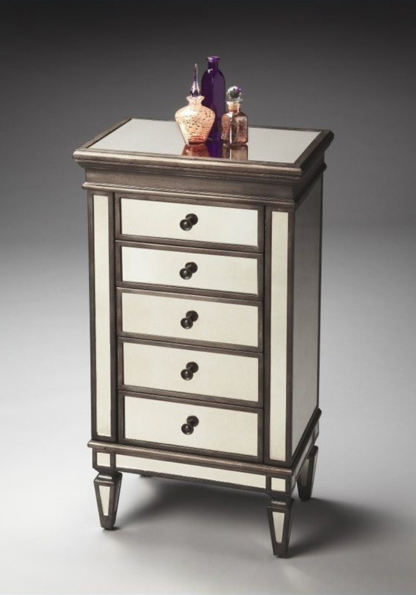 Minimalist Elegant Night Stand Style Standing Jewelry Armoire