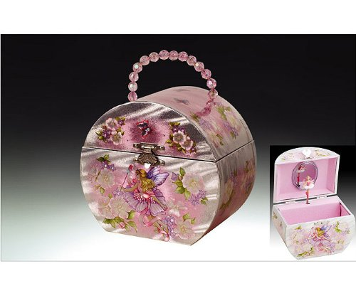 Fairy Pink Childrens Musical Ballerina Jewelry Box Zen Merchandiser