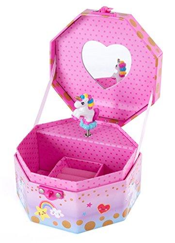 Baby Music Box Unicorn White With Mounting Ring