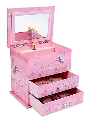 Jewel keeper large 2 drawer pink girls 39 musical jewelry for Girls large jewelry box