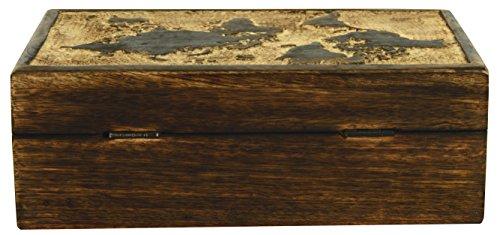 Elegant vintage world map burned wood design chest shaped jewelry world map burned wood design chest shaped jewelry trinket box gumiabroncs Image collections