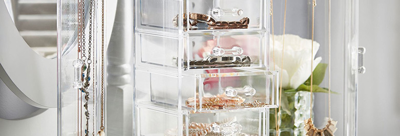 Beautiful Acrylic Jewelry Boxes