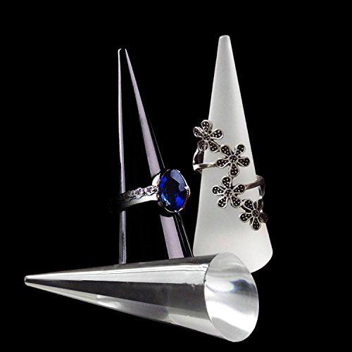 Creative Elegant Acrylic Ring Holder Finger Cones