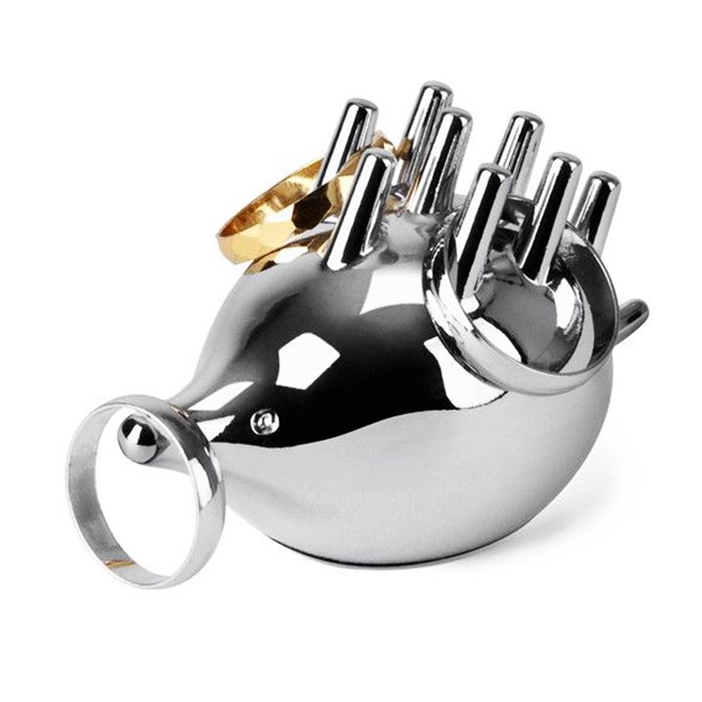 Elegant Silver Umbra Porcupine Ring Holder