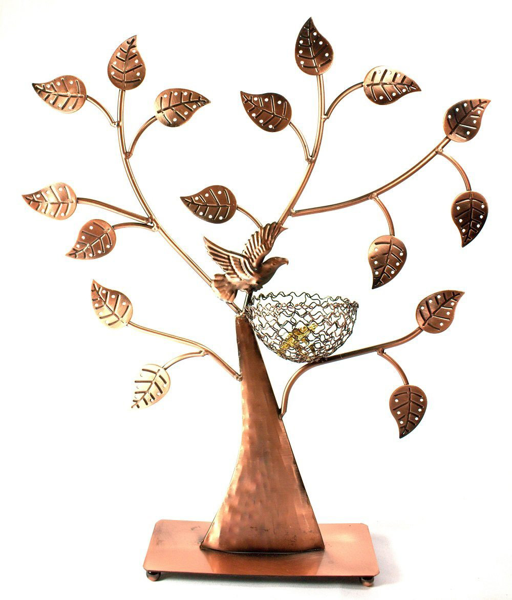Creative Copper Large Earring Stud Tree Holder