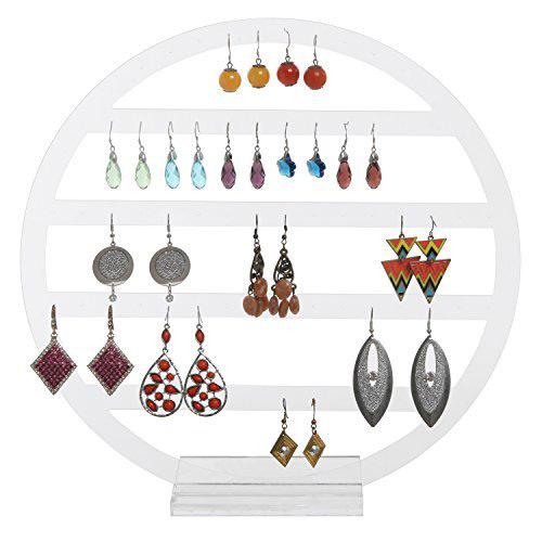 Cute Round Acrylic Jewelry Holder Stand