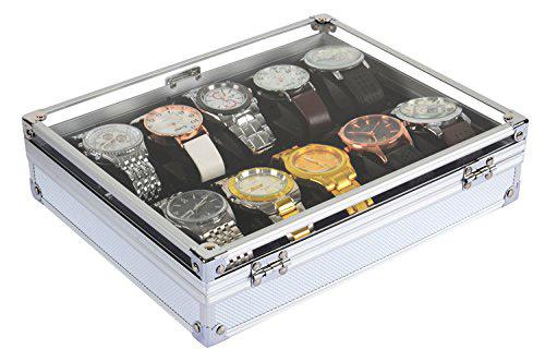 Elegant Industrial Design Clear Lid Watch Holder Box