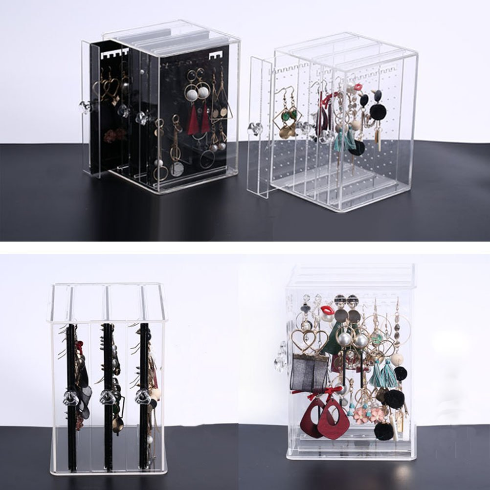 Creative Compact Acrylic Jewelry Holder Box