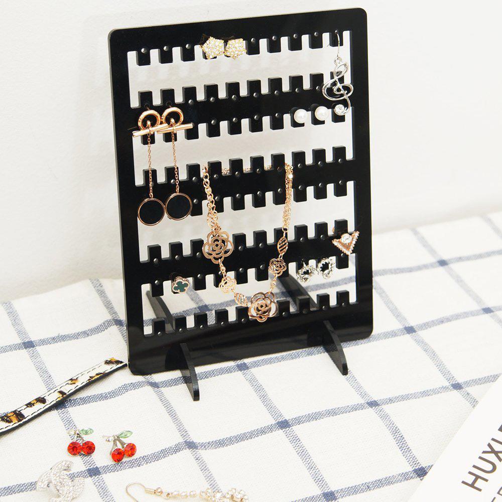 Elegant Black Multifunctional Stud Earring Holder Panel