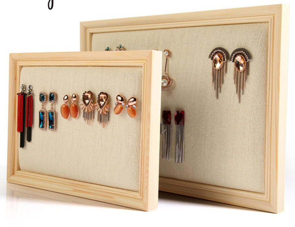 The 15 best picture frame jewelry holders zen merchandiser elegant linen interior light wood picture frame jewelry holder jeuxipadfo Image collections