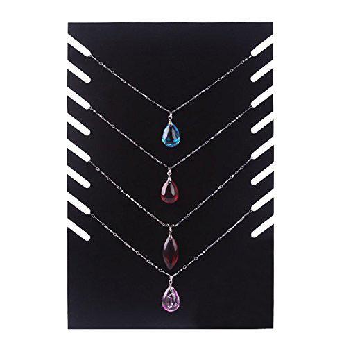 Creative Black Indented Necklace Holder Stand