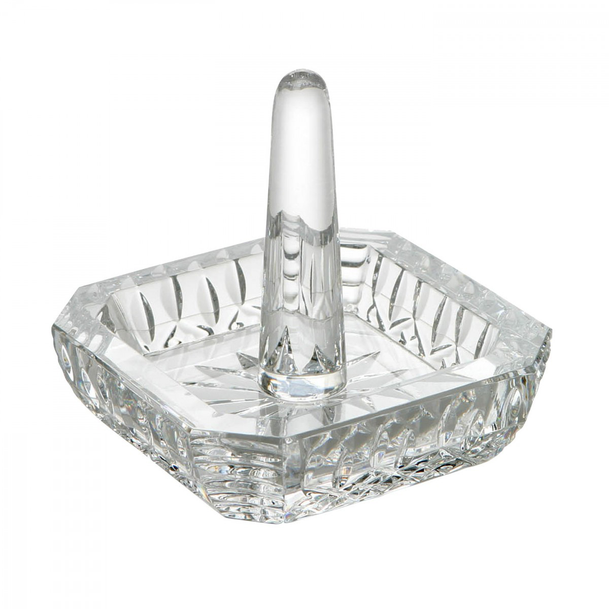Square Decorative Crystal Ring Holder