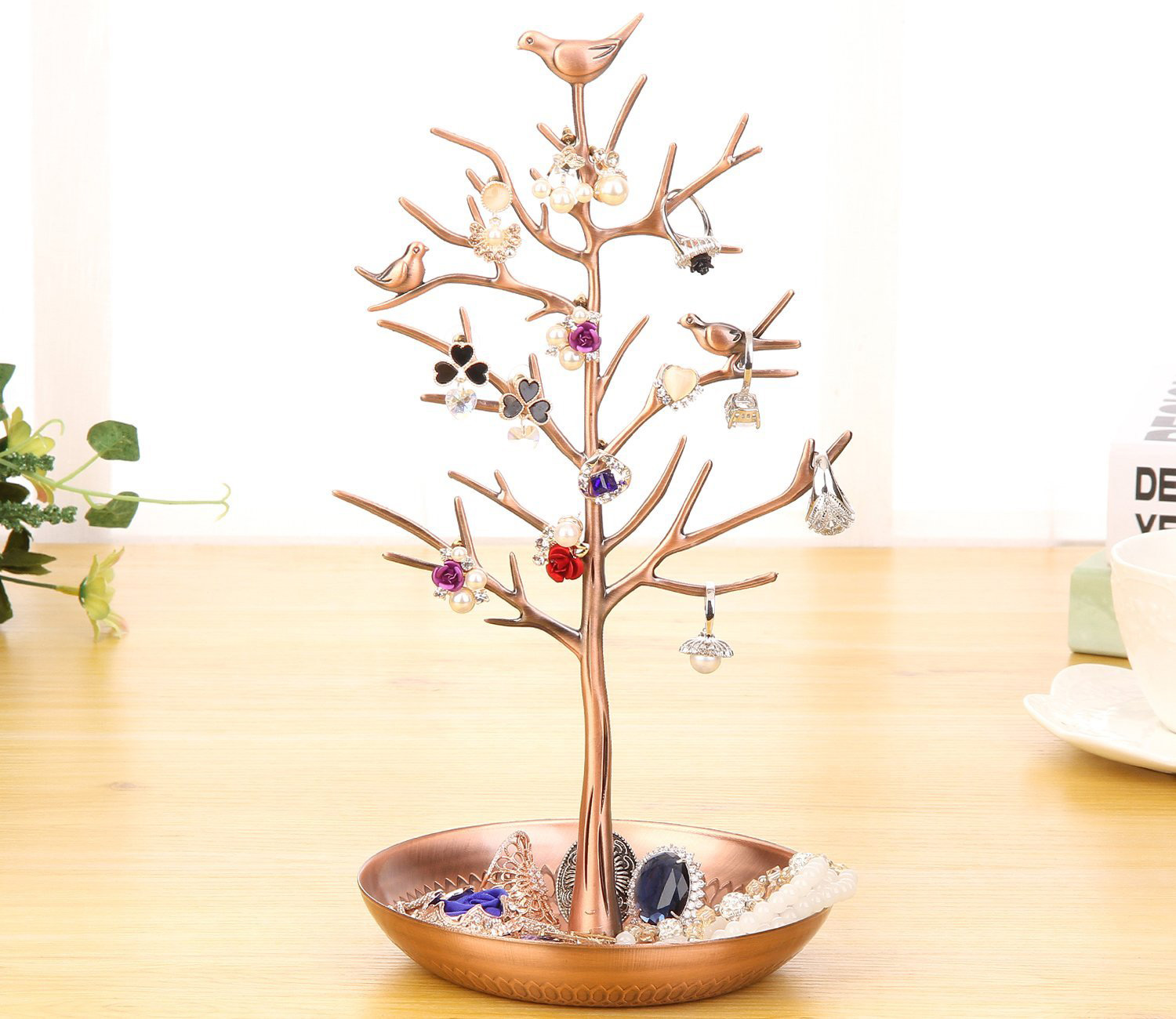 Beautiful Copper Decorative Jewelry Tree Holder