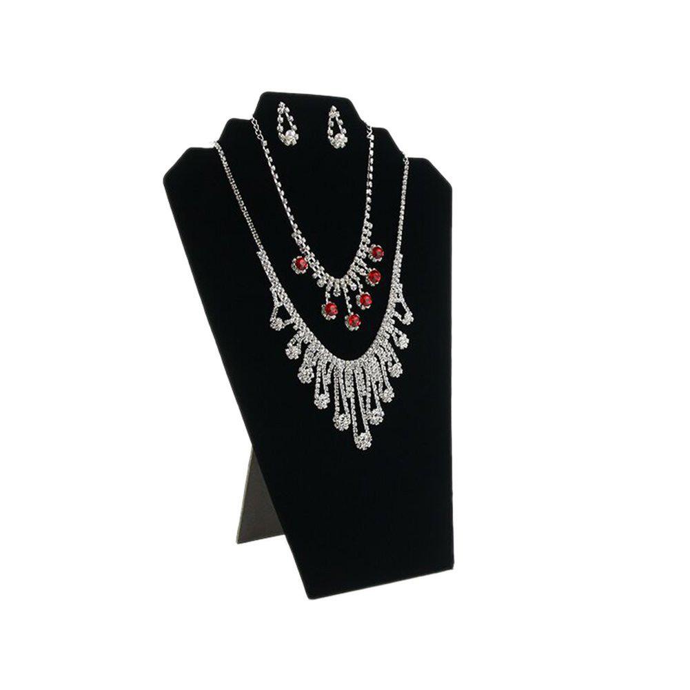 Black Mannequin Bust Easel Necklace Holder Stand