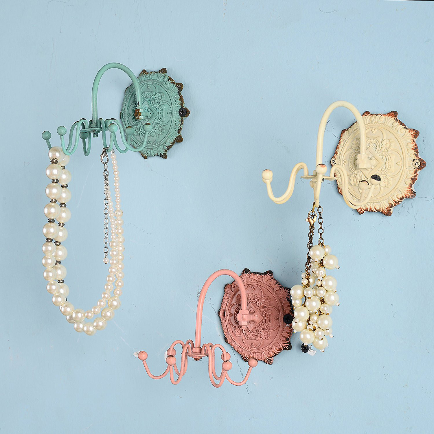 Cute Vintage Multiple Hooks Wall Mounted Jewelry Holders