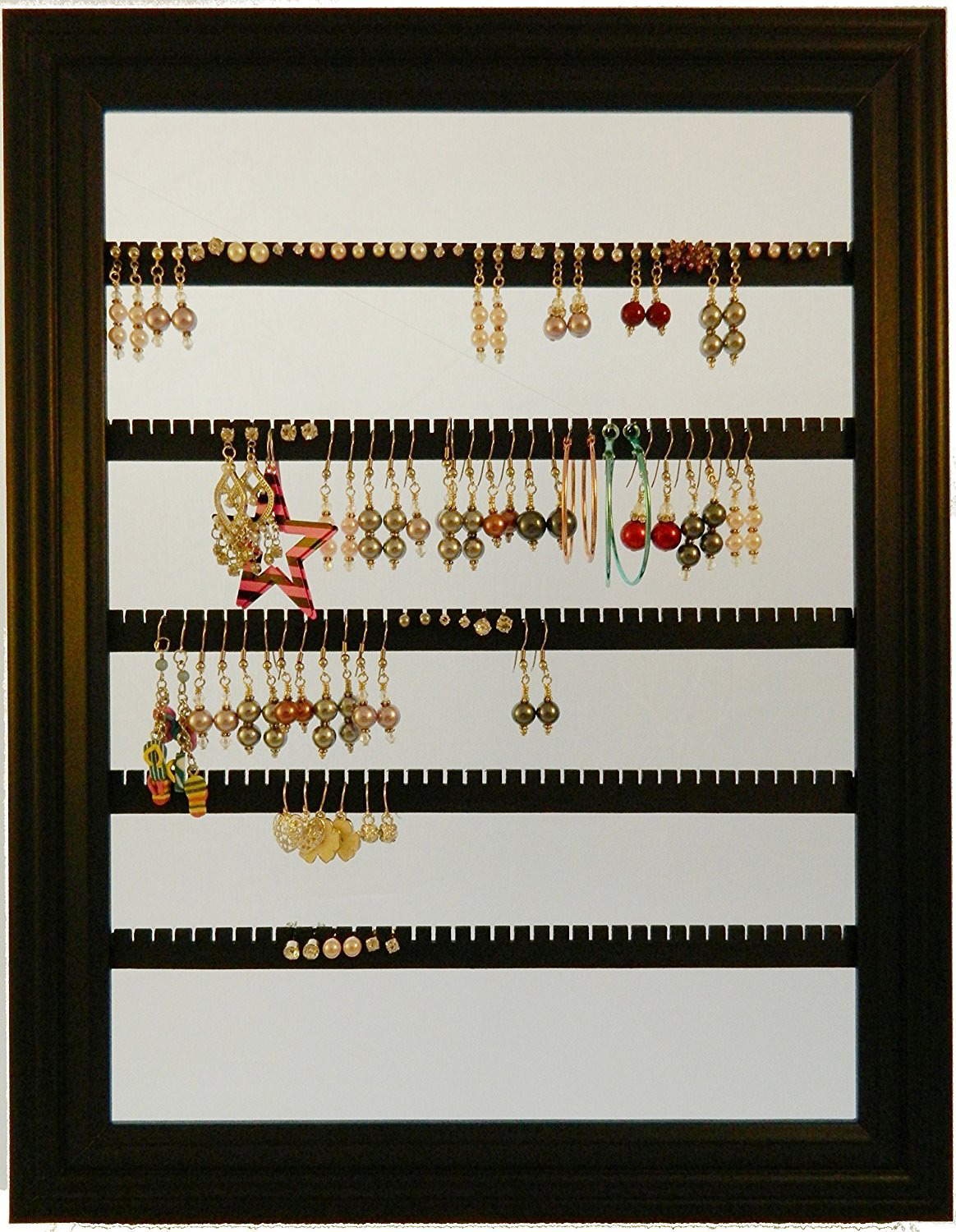 The 15 best picture frame jewelry holders zen merchandiser elegant picture frame design dark brown wall mounted jewelry holder jeuxipadfo Image collections