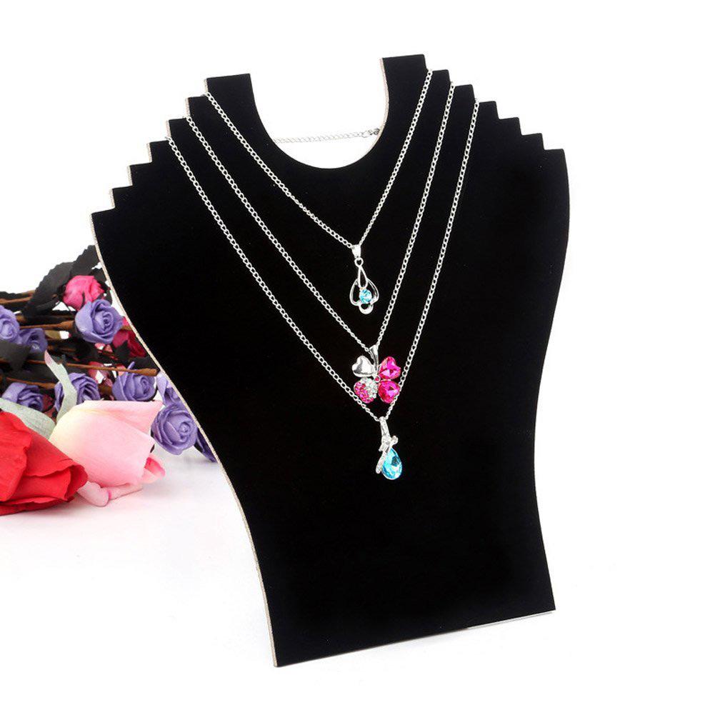 Elegant Black Mannequin Bust Cutout Necklace Holder