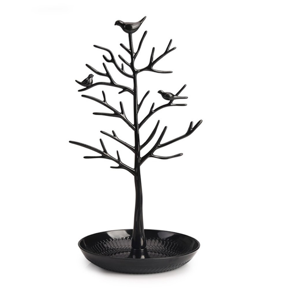 Minimalist Black Tall Jewelry Tree Holder