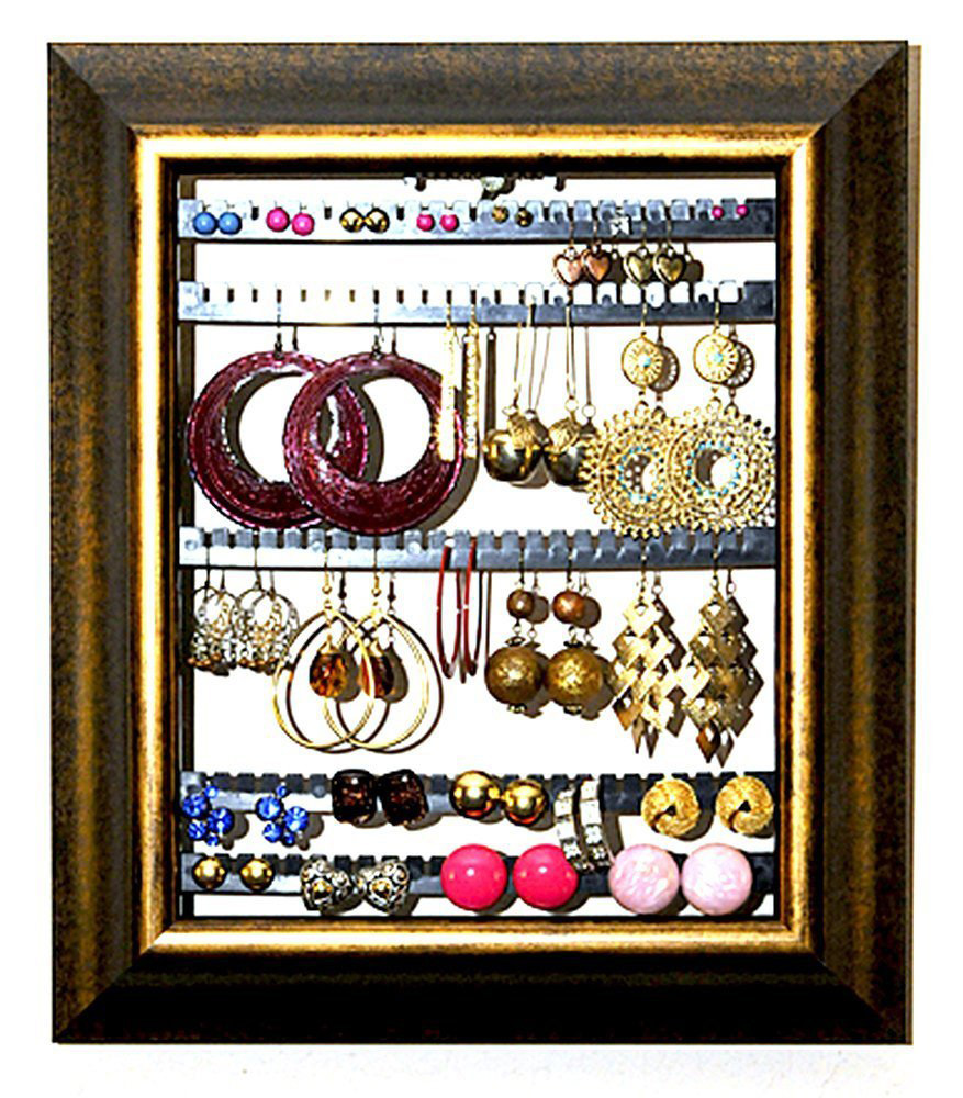Vintage Wall Hanging Frame Earring Holder