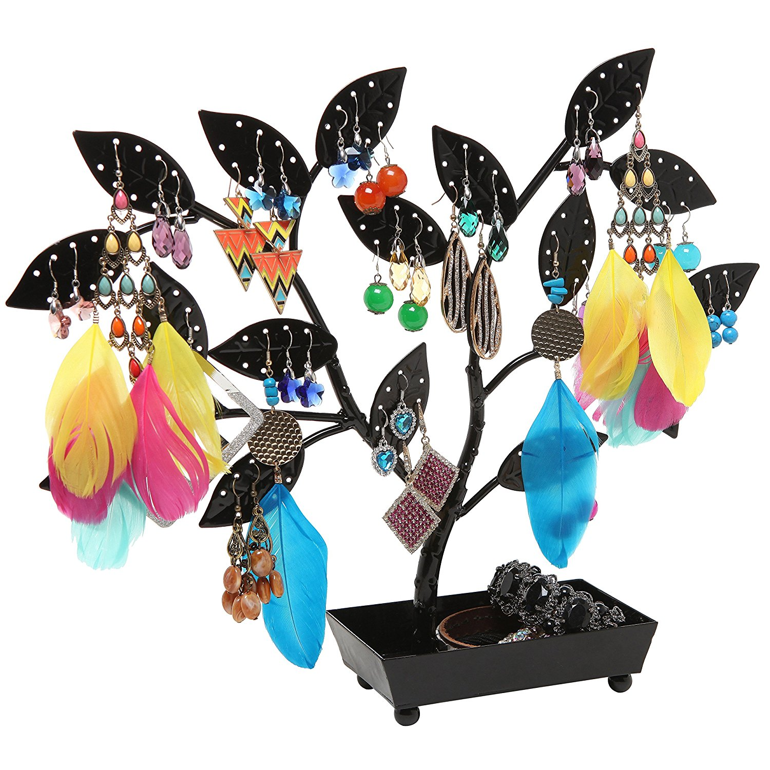 Creative Black Large Earring Holder Tree Stand
