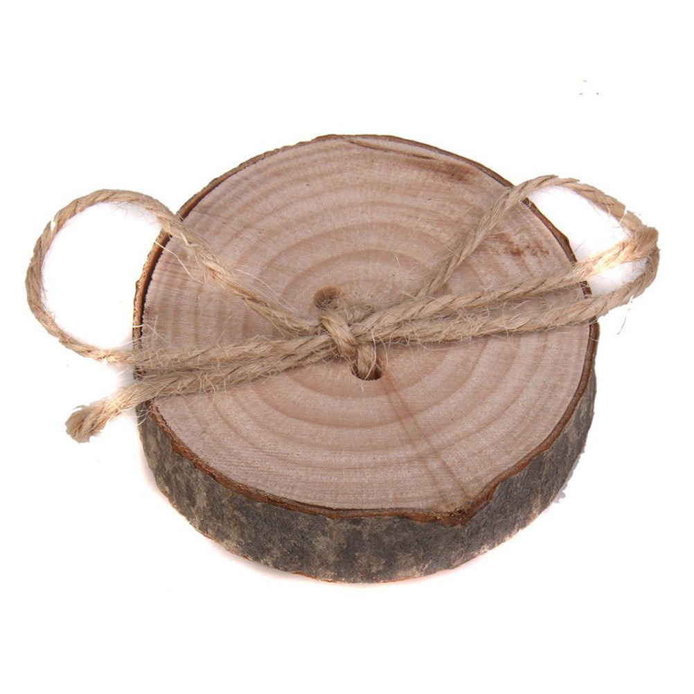 Cute Log with String Ribbon Wedding Ring Holder
