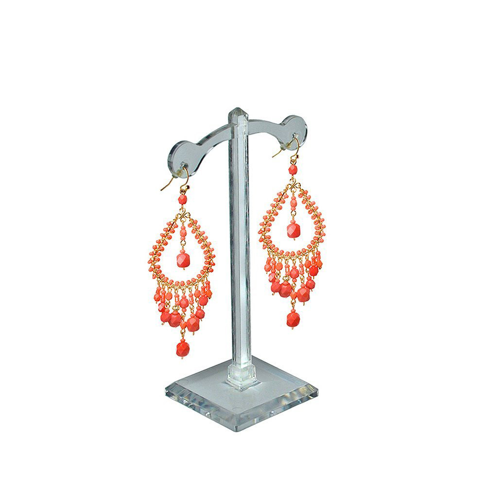 Cute Acrylic Lamp Post Shaped Earring Holder