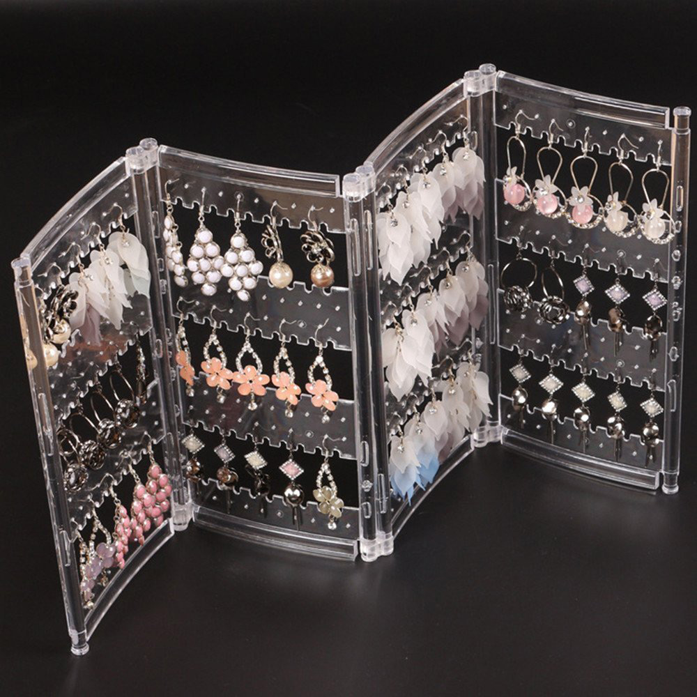 Acrylic Foldable Panel Large Capacity Earring Holder