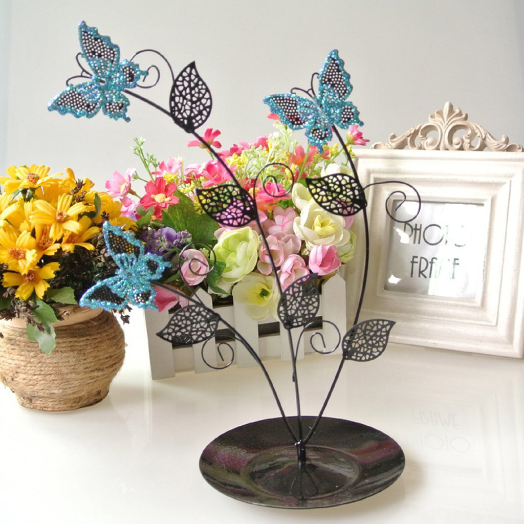 Creative Jewelry Tree with Decorative Butterflies