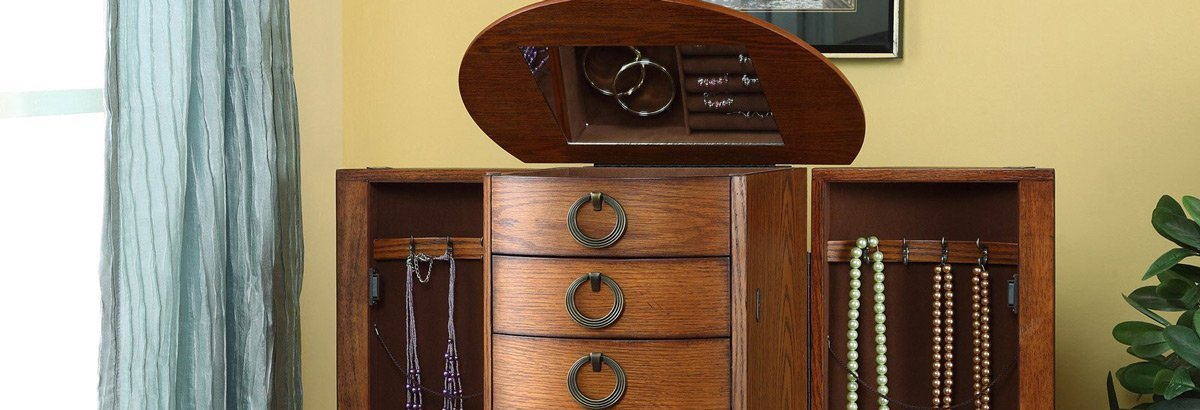 Best Wooden Oak Jewelry Armoires