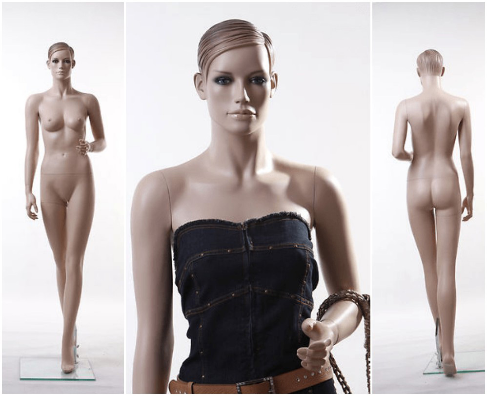 ZM-102 - Evelyn - Realistic Tan Female Mannequin