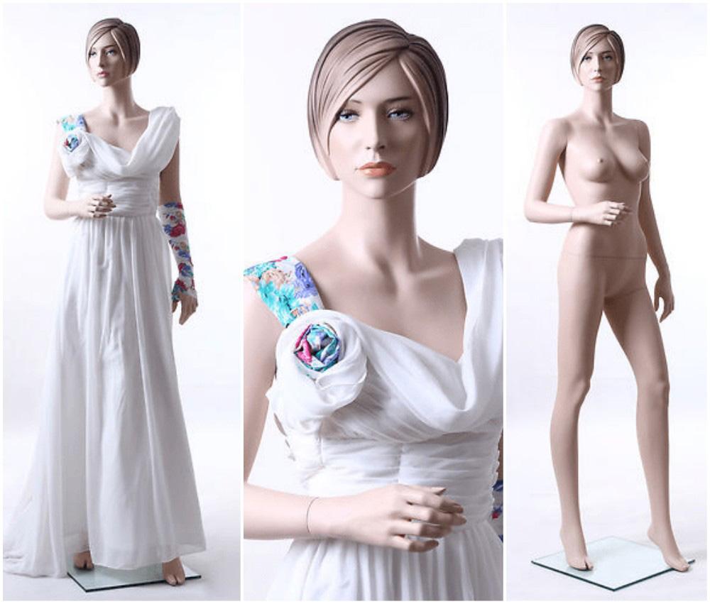 ZM-110 - Abigail - Elegant White Bridal Female Mannequin