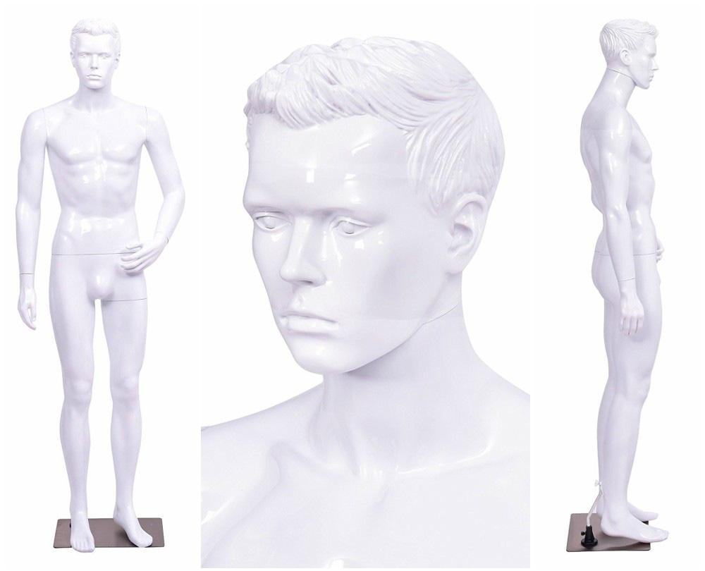 ZM-1101 - Dylan - Abstract White Male Mannequin