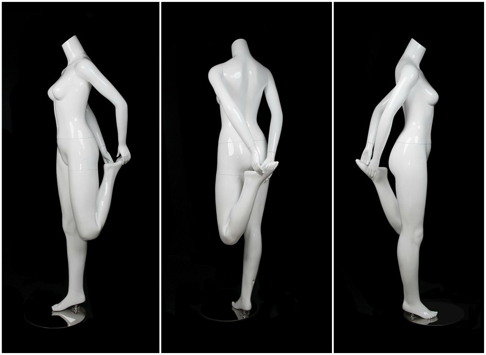 ZM-1102 - Ariella - Abstract White Yoga Pose Female Mannequin
