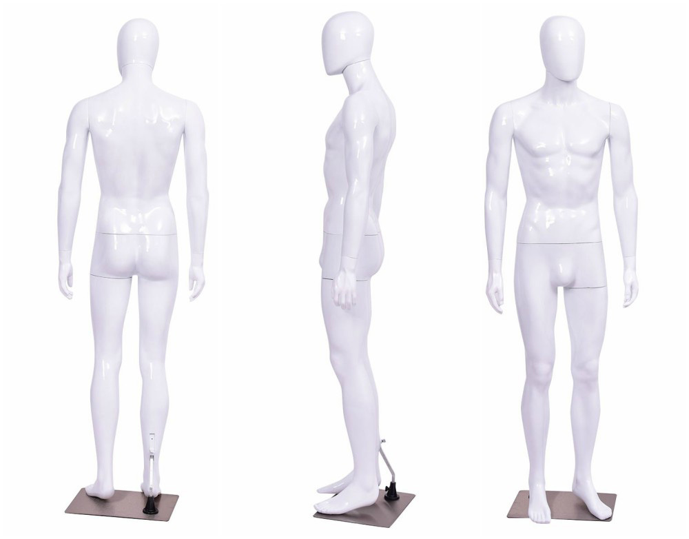 ZM-1104 - Frank - Simple Abstract White Male Mannequin