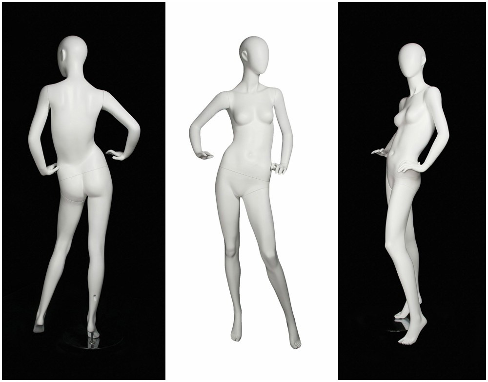 ZM-1105 - Mallory - Elegant Posing White Abstract Mannequin
