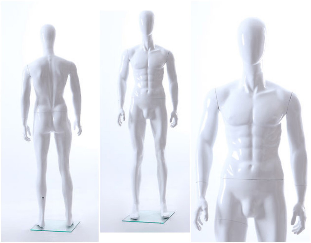 ZM-1107 - Karl - Abstract White Simple Male Mannequin