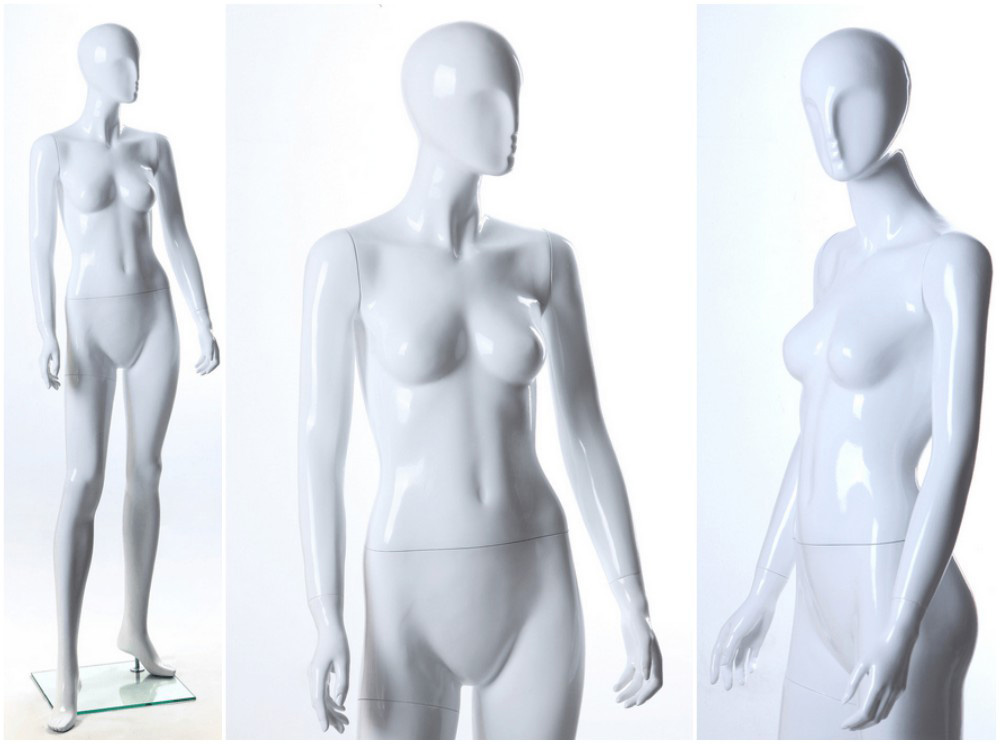 ZM-1108 - Adaline - Premium Glossy White Abstract Female Mannequin