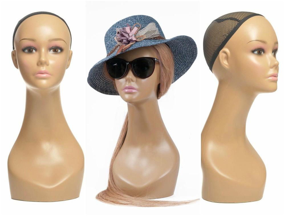 ZM-111 - Mia - Realistic Tan Female Mannequin Head Stand