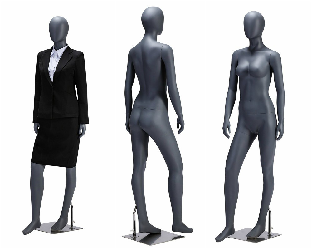 ZM-112 - Isabella - Elegant Abstract Gray Female Mannequin